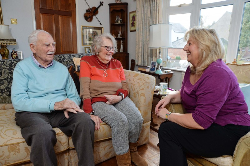 Home Instead Market Harborough, Rutland and Corby owner Gail Devereux-Batchelor and elderly clients