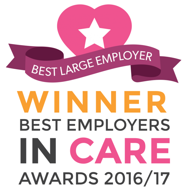 Best Employers in Care Winner logo