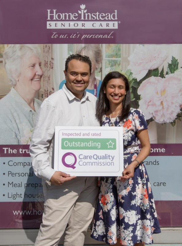 Home Instead Senior Care Croydon & Dulwich owner Bhavin Patel and wife