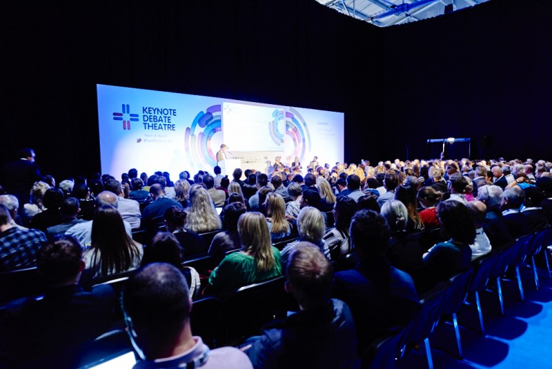 Attendees at the Health Plus Care show at ExCeL London, where Home Instead Senior Care will be present