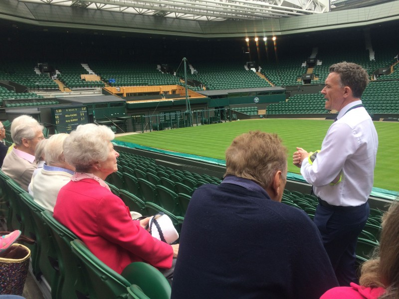 Clients asisting to the Home Instead Coffee and Culture club at Wimbledon