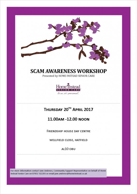 Scam Awareness Event - 20th April | Welwyn and Hatfield