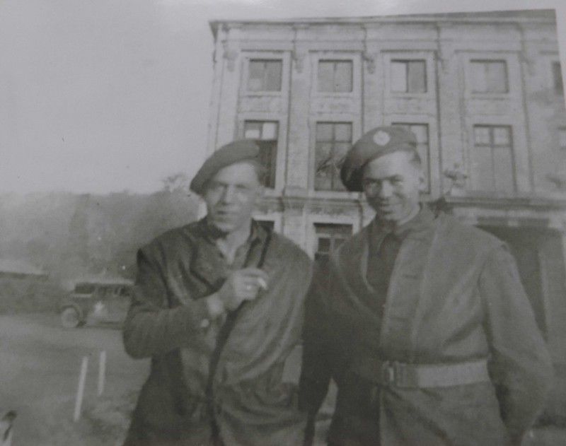 WWII photograph of 96-year-old Home Instead client Elijah and his friend Sid